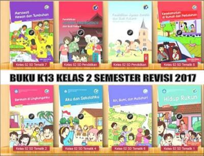 Buku Kurikulum 2013 kelas 2 Semester 2 SD/MI Revisi 2017