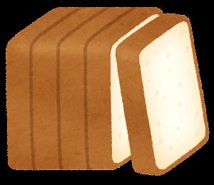 5枚に切られた食パンのイラスト
