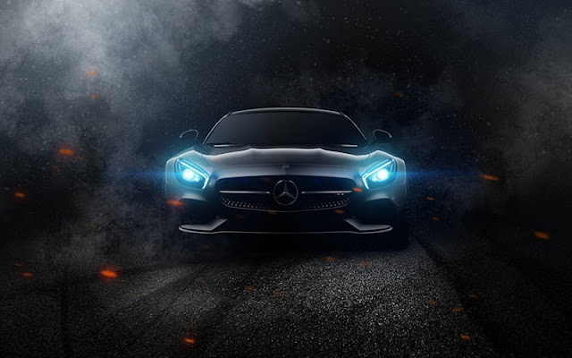 car light photo focus