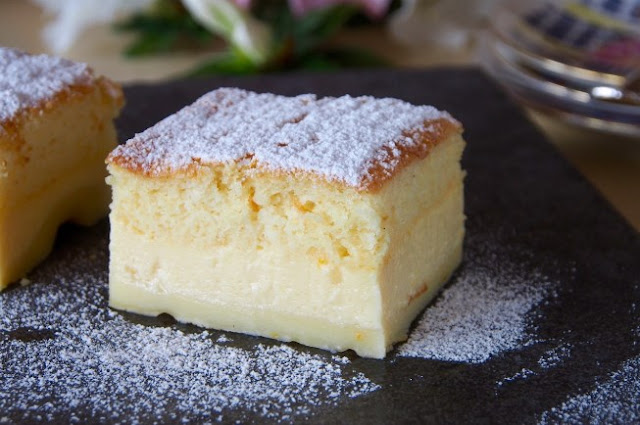 Vanilla Magic Custard Cake #cake #desserts