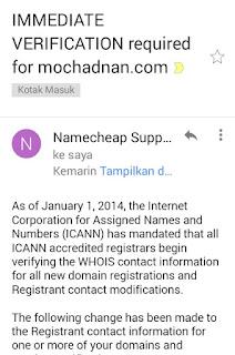 Cara Mengatasi Domain Terkena Suspend Di Namecheap