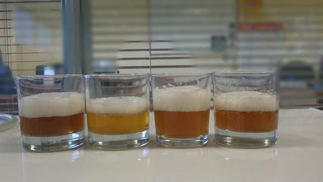 Colour comparison of Brett fermented beers