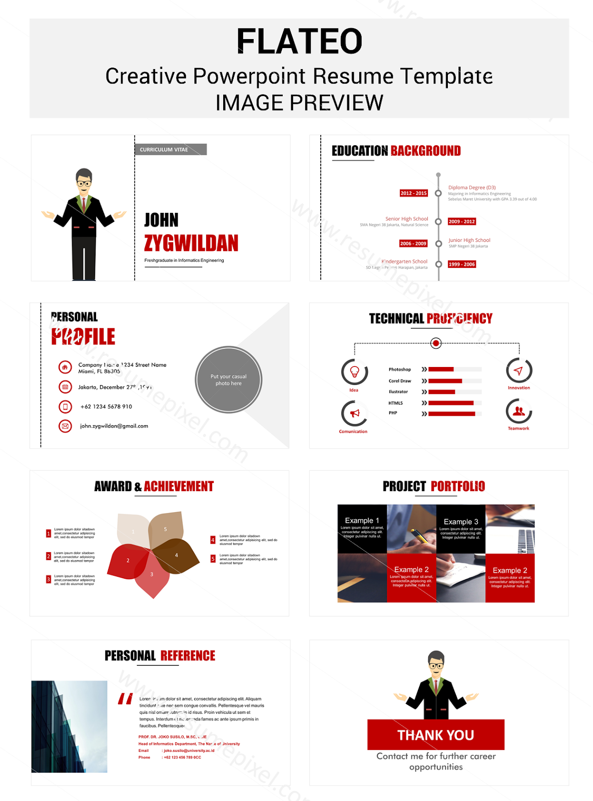 Powerpoint CV Resume Template