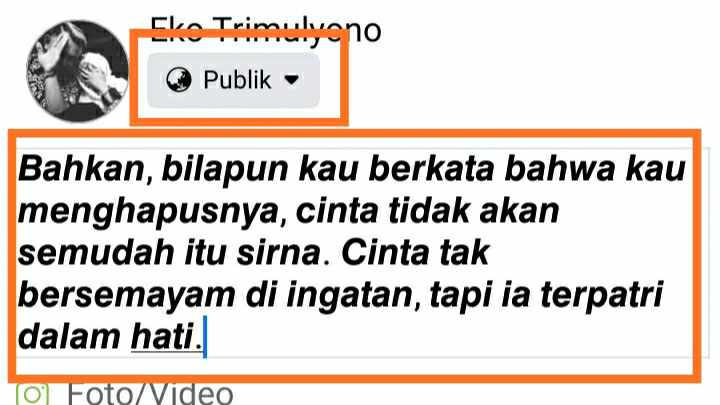 Status FB Singkat
