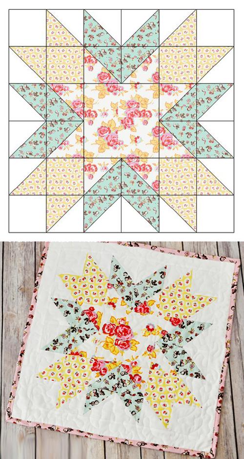 Starburst Mini Quilt - Free Pattern & Tutorial