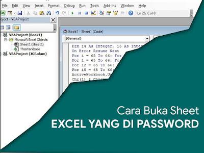 Cara Membuka File Excel yang di Password