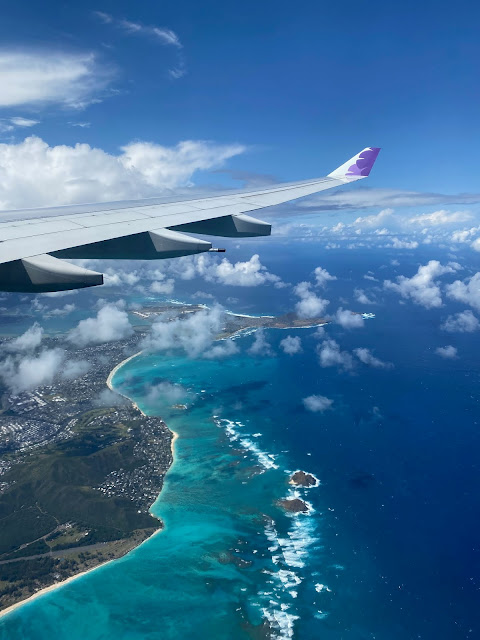 Airplane view of Oahu Hawaii