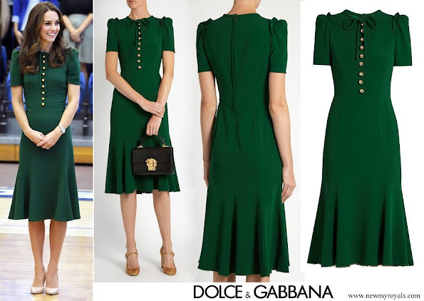 Kate Middleton wore Dolce & Gabbana crepe midi dress