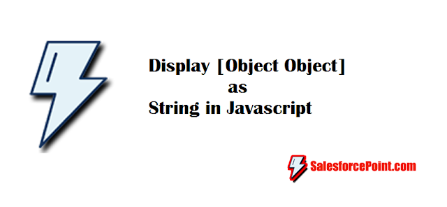 Display Object as String in JavaScript