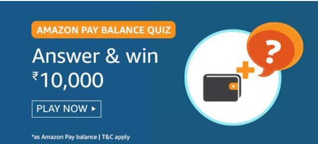 Amazon Pay Blance Quiz Answers