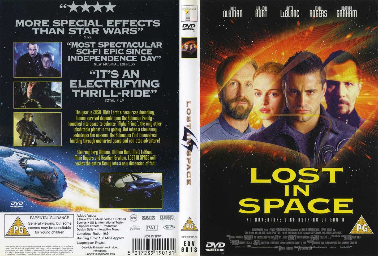 Movie Memorabilia Emporium: Lost In Space UK DVD Cover