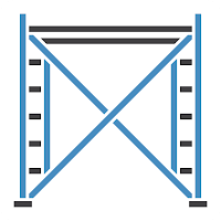 The Scaffolder icon, showing construction scaffolding