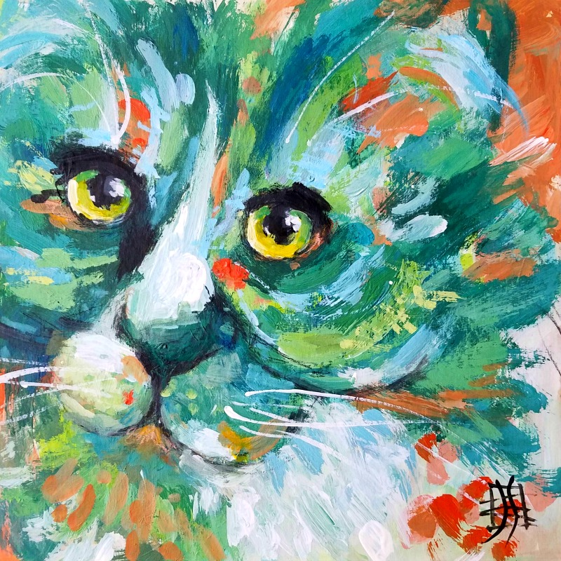 CAT #9 by Joanie Springer - 30 Cats in 30 Days