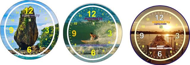 Desain jam dinding yang akan aku bagikan ini merupakan desain jam dinding yang dibentuk men Contoh Desain Jam Dingding CorelDraw