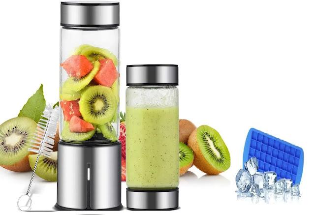 TTLIFE Glass Smoothie Blender with Single Serve