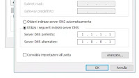 Modificare i server DNS della connessione internet su Windows 10 e 7