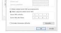 Modificare i server DNS della connessione internet su Windows 10 e 7