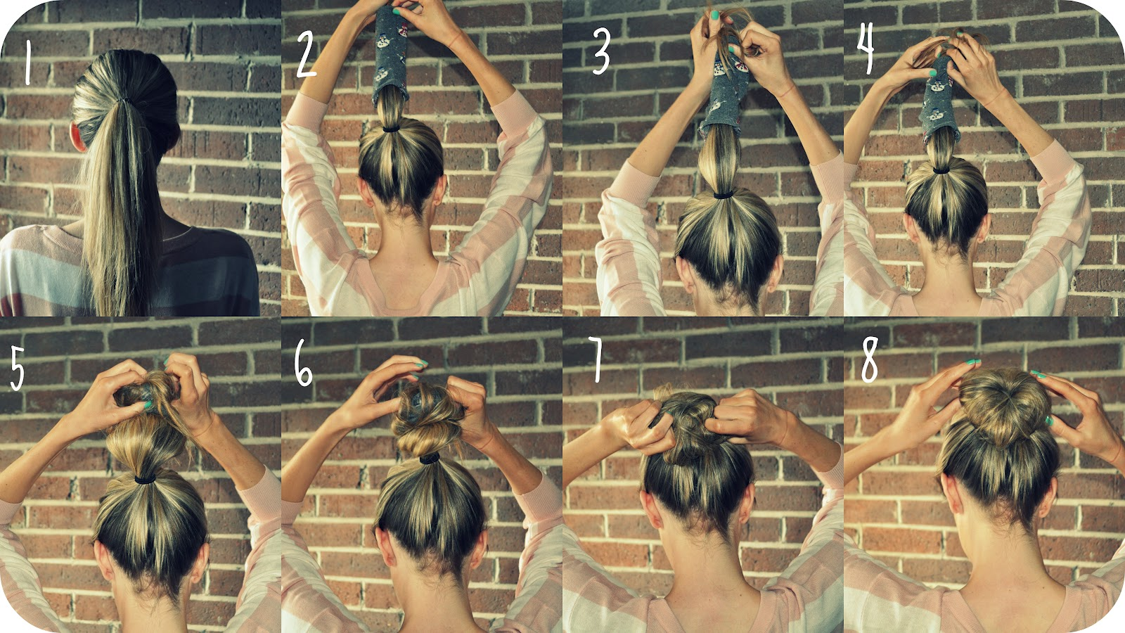 The Secret To Conquering The Sock Bun