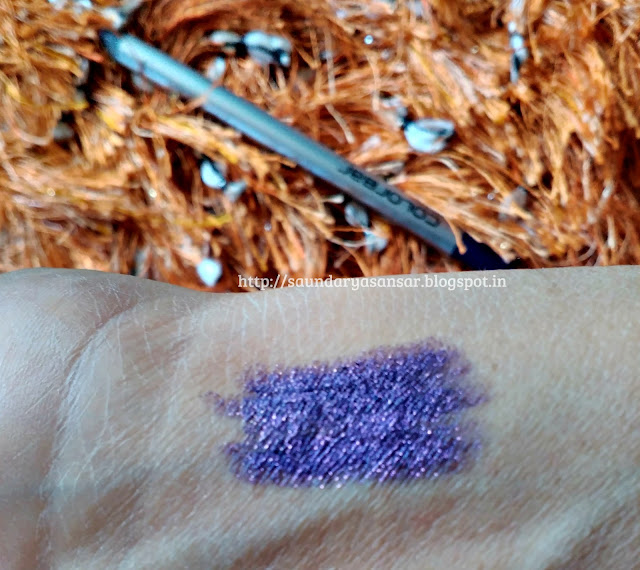 Colorbar I-Glide Eye Pencil- Amethyst Spark 011: Review, Swatches