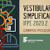 Publicado edital do Vestibular Simplificado 2020.2 do IFPE-Pesqueira