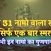 शिवजी  ३१ नामावली | Shiv 31 Naam |