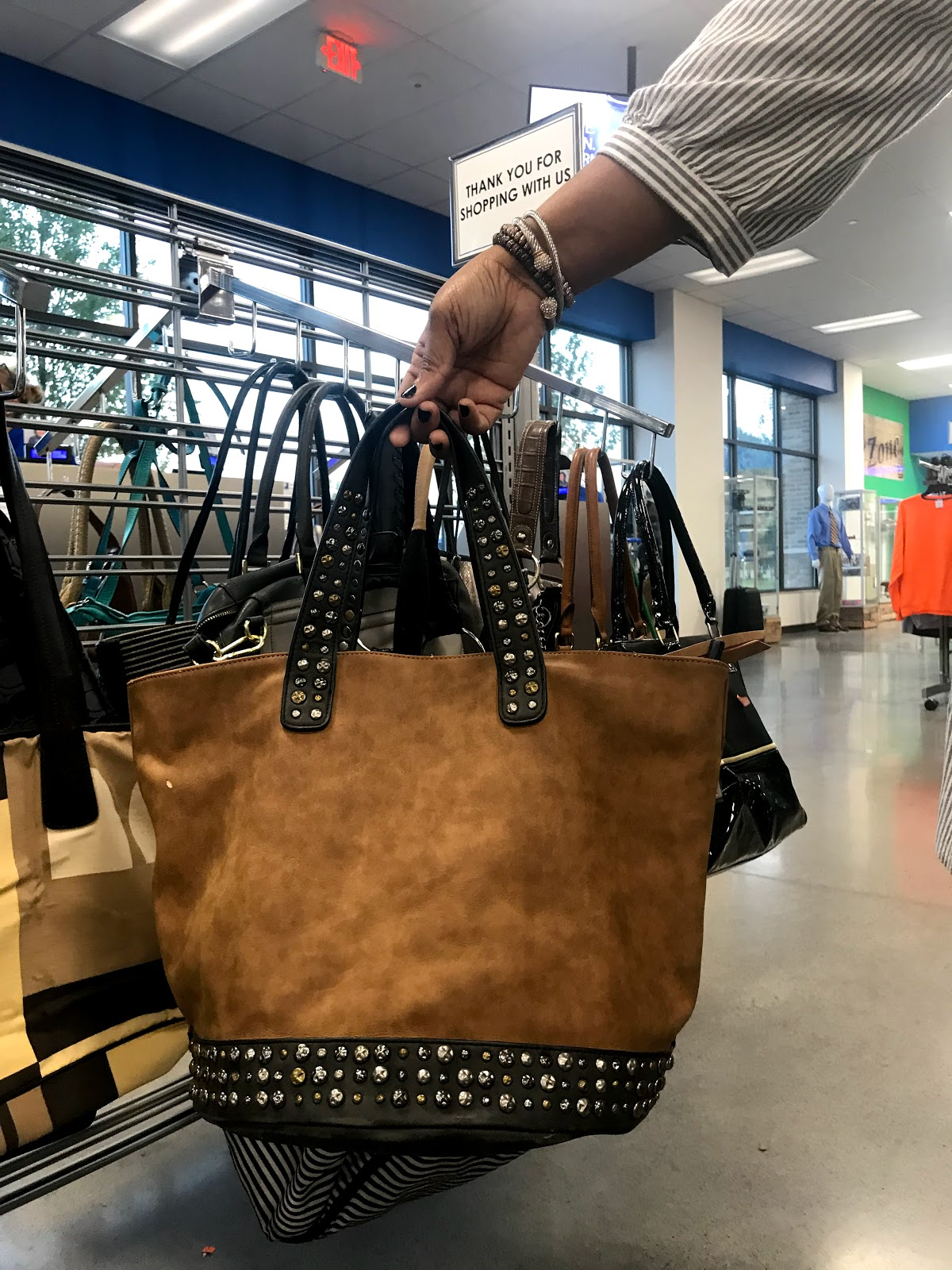 Image: Brown Bucket Bag at store for 3.99