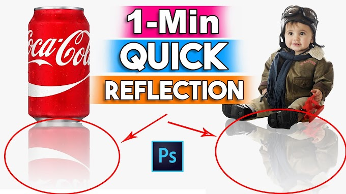 1-Minute Quick Perfect Reflection in Adobe Photoshop
