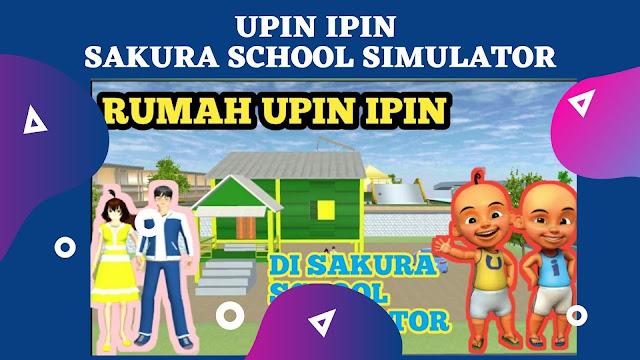 Dapatkan ID Rumah Upin Ipin di Sakura School Simulator ( Lengkap )