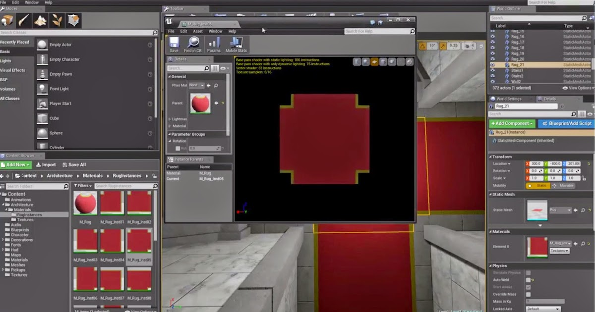 Unreal Engine 4 Rotate a Texture in Material Editor | CG TUTORIAL