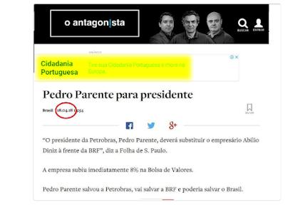 print do site Antagonista