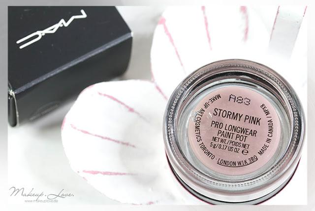 MAC Pro Longwear Paint Pot 'Stormy Pink'   Review + Look