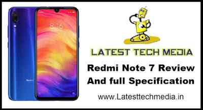 Redmi Note 7 Review And full Specification