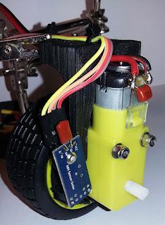 Vista del micro motor y del sensor de velocidad