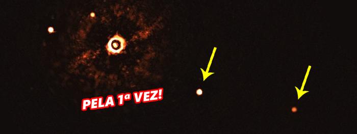 primeira foto de exoplanetas em sistema solar distante