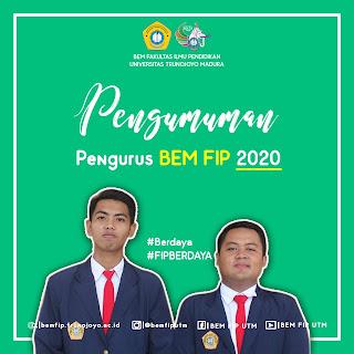 Pengumuman pengurus BEM FIP KABINET BRAJAMUSTI 2020