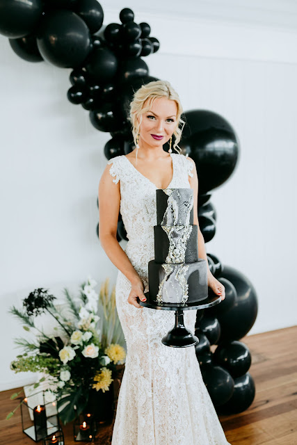 lady bella photography gold coast wedding venue tweed heads bridal gowns australian designer florals cake black balloons styling