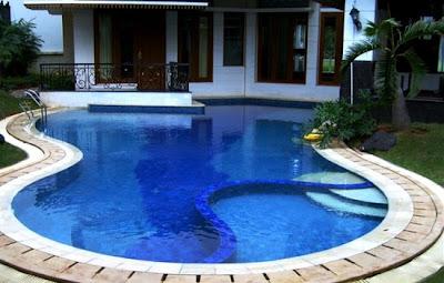 rumah mewah yg ada kolam renang - lock down t