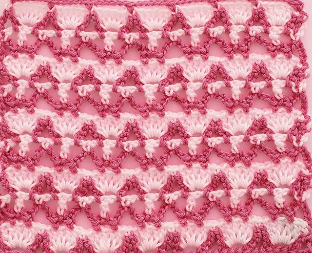 2 -Crochet Imagenes Puntada combinada dos colores a crochet y ganchillo por Majovel crochet
