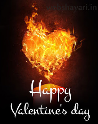 flame happy valentine day picture