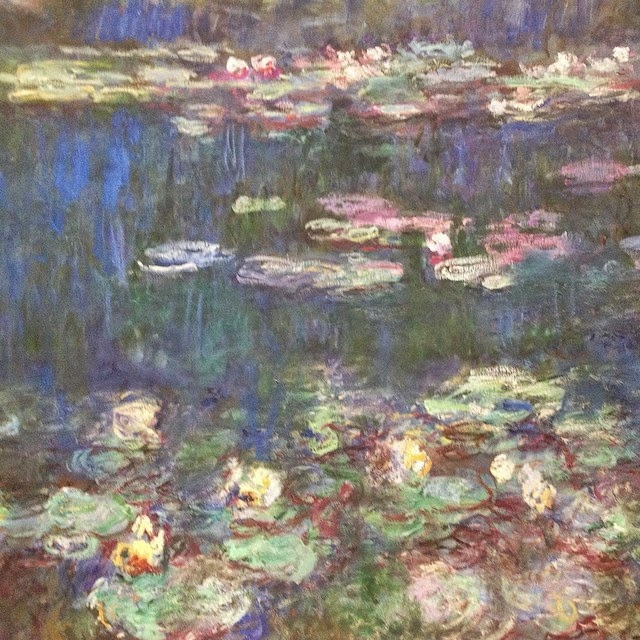 Claude Monet waterlilies in the Musee d'Orangerie, Paris