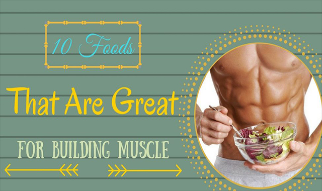 10 Great foods for muscle construction #infographic