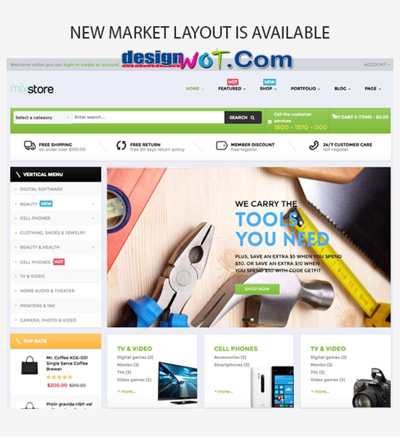 MixStore - MultiShop WooCommerce Theme