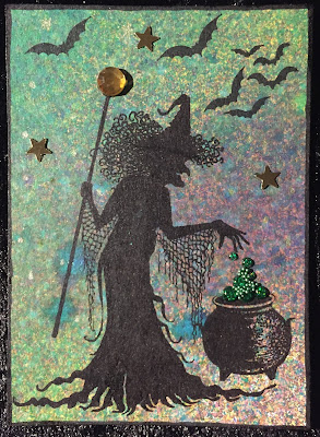 Lavinia Witch ATC (Artist Trading Card)