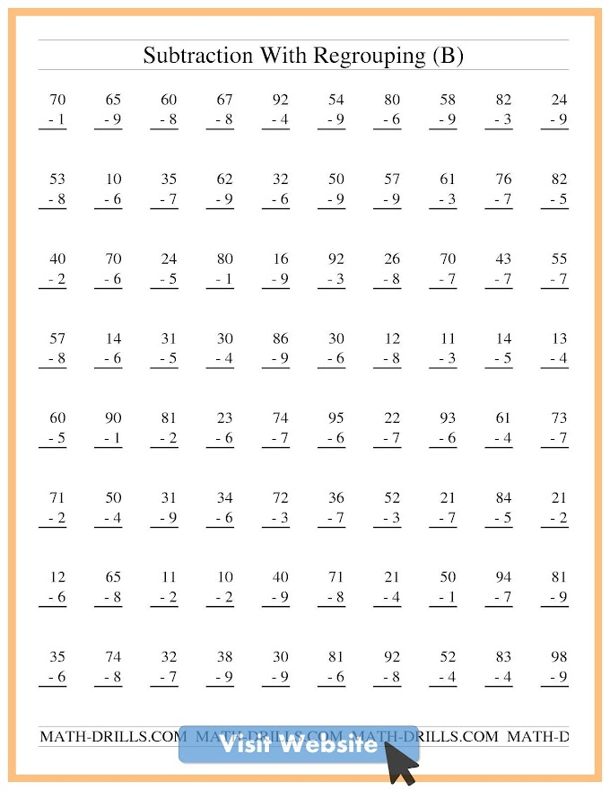 Preschool Worksheets Numbers Kindergarten Math