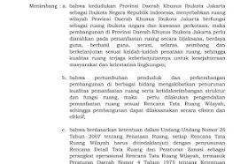 Perda Jakarta Nomor 1 Tahun 2014 Tata Ruang Dan Peraturan Zonasi