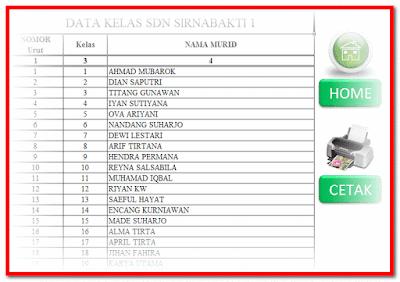 Format Data Siswa Aplikasi Cetak Kartu Ujian Format Excel.Xlsm