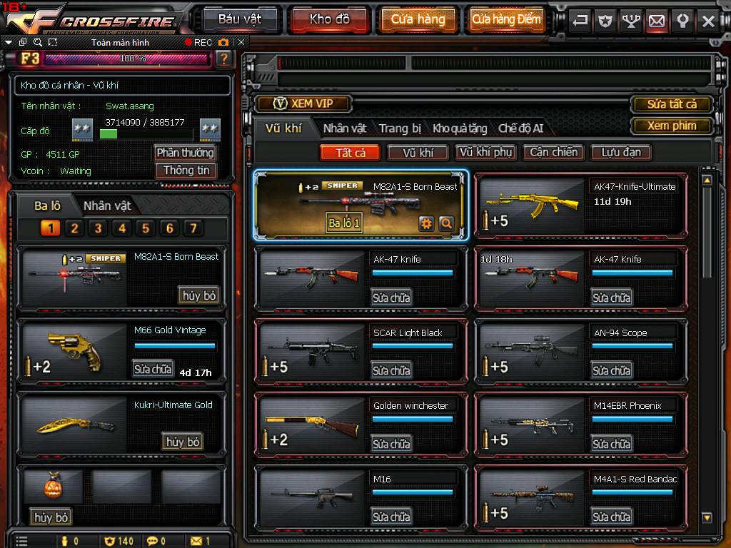Share nick 3z Vip, Awm Vip, Nhiều Cận Chiến: Tài khoản: tungro8x. Mật Khẩu:  124015Thanhcm