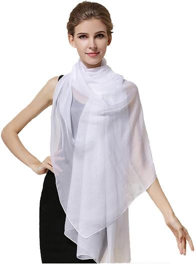Long Silk Chiffon Scarves Shawls