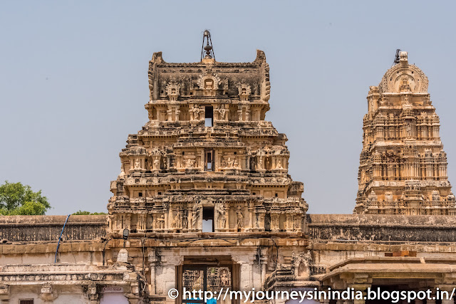Hampi Virupaksha Temple Inner Towers