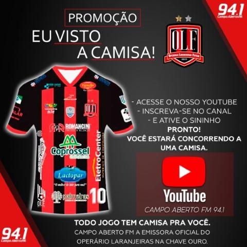 Assista o jogo Operário x São José dos Pinhais pelo Youtube e concorra a uma camisa do OLF oficial